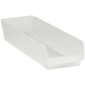 "23 5/8"" x 6 5/8"" x 4"" Clear  Plastic Shelf Bin Boxes"