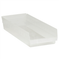 "23 5/8"" x 8 3/8"" x 4"" Clear  Plastic Shelf Bin Boxes"