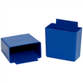 "3 1/4"" x 1 3/4"" x 3 Blue  Shelf Bin Cups"