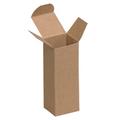 "1 1/2"" x 1 1/2"" x 4"" Kraft  Reverse Tuck Folding Cartons 1000/Case"