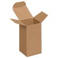 "2"" x 2"" x 4"" Kraft  Reverse Tuck Folding Cartons 1000/Case"
