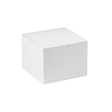 "8"" x 8"" x 6"" White  Gift Boxes 50/Case"