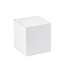 """8"""" x 8"""" x 8 1/2"""" White  Gift Boxes 50/Case"""
