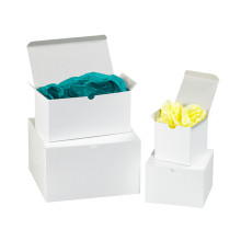 """9"""" x 9"""" x 5 1/2"""" White  Gift Boxes 50/Case"""