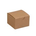"3"" x 3"" x 2"" Kraft  Gift Boxes 100/Case"