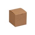 "3"" x 3"" x 3"" Kraft  Gift Boxes 100/Case"
