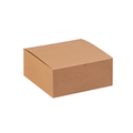 "8"" x 8"" x 3 1/2"" Kraft  Gift Boxes 100/Case"