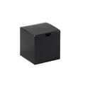 "4"" x 4"" x 4"" Black Gloss  Gift Boxes 100/Case"