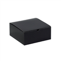 "8"" x 8"" x 3 1/2"" Black Gloss  Gift Boxes 100/Case"