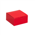 "4"" x 4"" x 2"" Holiday Red  Gift Boxes 100/Case"