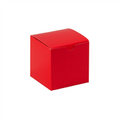 "4"" x 4"" x 4"" Holiday Red  Gift Boxes 100/Case"