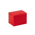 "6"" x 4 1/2"" x 4 1/2"" Holiday Red  Gift Boxes 100/Case"