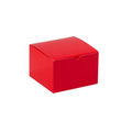 "6"" x 6"" x 4"" Holiday Red  Gift Boxes 100/Case"