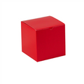 "6"" x 6"" x 6"" Holiday Red  Gift Boxes 100/Case"