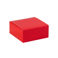 "8"" x 8"" x 3 1/2"" Holiday Red  Gift Boxes 100/Case"