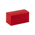 "9"" x 4 1/2"" x 4 1/2"" Holiday Red  Gift Boxes 100/Case"