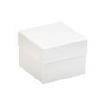 "4"" x 4"" x 3"" White  Deluxe Gift Box Bottoms 50/Case"