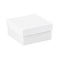 "6"" x 6"" x 3"" White  Deluxe Gift Box Bottoms 50/Case"