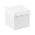 "6"" x 6"" x 6"" White  Deluxe Gift Box Bottoms 50/Case"