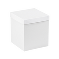 "8"" x 8"" x 9"" White  Deluxe Gift Box Bottoms 50/Case"