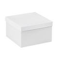 "10"" x 10"" x 6"" White  Deluxe Gift Box Bottoms 50/Case"
