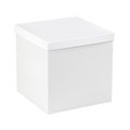 "12"" x 12"" x 12"" White  Deluxe Gift Box Bottoms 50/Case"