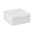 "14"" x 14"" x 6"" White  Deluxe Gift Box Bottoms 50/Case"