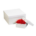 "19"" x 12"" x 3"" White  Deluxe Gift Box Bottoms 50/Case"
