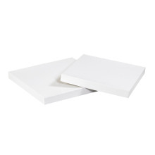 "4"" x 4"" White  Deluxe Gift Box Lids 50/Case"