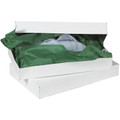 "11 1/2"" x 8 1/2"" x 1 5/8"" White  Apparel Boxes 100/Case"