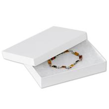 "5 1/4"" x 3 3/4"" x 7/8"" White  Jewelry Boxes 100/Case"