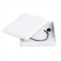 "6"" x 5"" x 1"" White  Jewelry Boxes 50/Case"