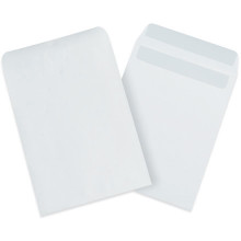 White Redi-Seal Envelopes Fold Flap, Press Down, and Mail. No Moisture Needed to Seal.