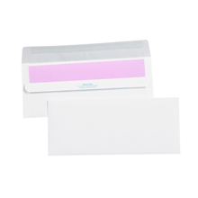 Plain Redi-Seal White Business Envelopes.