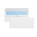 #10 Plain Redi-Seal White Business Envelopes with Security Tint.