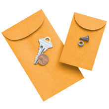Kraft Coin Sized Gummed Envelopes