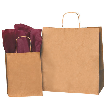 13 X 7 X 13 Kraft Paper Shopping Bags Case 250