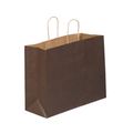 Brown Tinted Paper Shopping Bags with Twisted Paper Handles