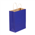 Parade Blue Tinted Paper Shopping Bags with Twisted Paper Handles