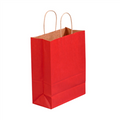 Scarlet Tinted Paper Shopping Bags with Twisted Paper Handles