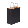 Black Tinted Paper Shopping Bags with Twisted Paper Handles
