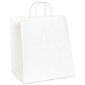Heavy Duty White Paper Shopping Bags with Twisted Paper Handles