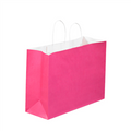 Cerise Tinted White Paper Shopping Bags with Twisted Paper Handles