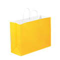 Buttercup Tinted White Paper Shopping Bags with Twisted Paper Handles