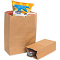 "12"" x 7"" x 17"" Kraft  Grocery Bags Case / 500"