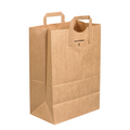 Flat Handle Grocery Bags Kraft Paper Shopping Bags