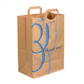 "Flat Handle Grocery Bags Kraft Paper Shopping Bags ""Thank You"""