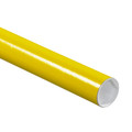 "2"" x 6"" Yellow  Mailing Tubes with Caps Case/50"