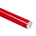 Red Mailing Tubes, Color Shipping Tube with Caps