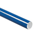 Blue Mailing Tubes, Color Shipping Tube with Caps